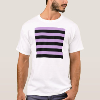 Stripes - Black and Wisteria T-Shirt