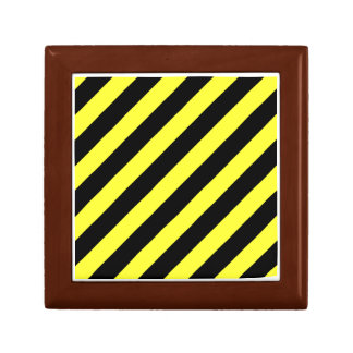 stripes black and yellow gift box
