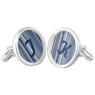 Stripes Blue Cufflinks