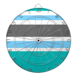 Stripes Blue Green Teal Grey Dartboard