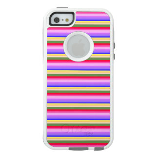 Stripes - Blue Purple Green Yellow Orange Pink Red OtterBox iPhone 5/5s/SE Case