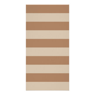 Stripes - Brown and Light Brown Picture Card
