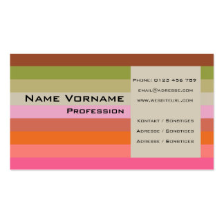 Stripes Pack Of Standard Business Cards
