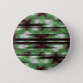 Stripes Camo Pattern Print 2 Inch Round Button