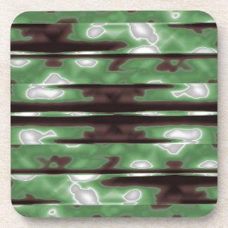 Stripes Camo Pattern Print Beverage Coasters