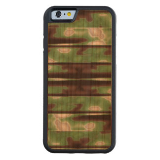 Stripes Camo Pattern Print Carved Cherry iPhone 6 Bumper Case