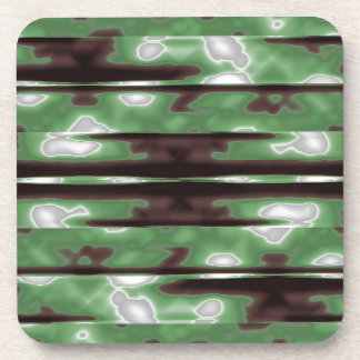 Stripes Camo Pattern Print Coaster
