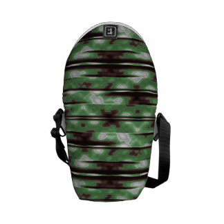 Stripes Camo Pattern Print Commuter Bags