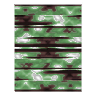 Stripes Camo Pattern Print Custom Letterhead