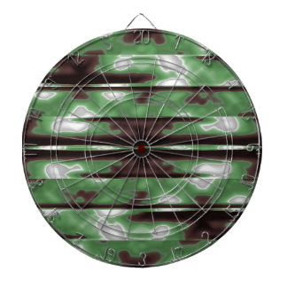 Stripes Camo Pattern Print Dartboard