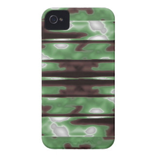 Stripes Camo Pattern Print iPhone 4 Case-Mate Case