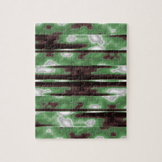 Stripes Camo Pattern Print Jigsaw Puzzle