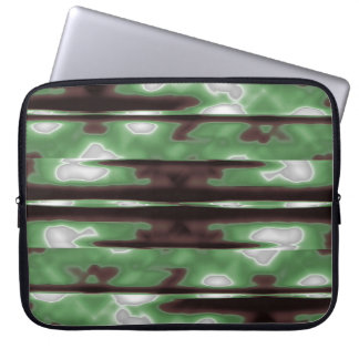 Stripes Camo Pattern Print Laptop Sleeve