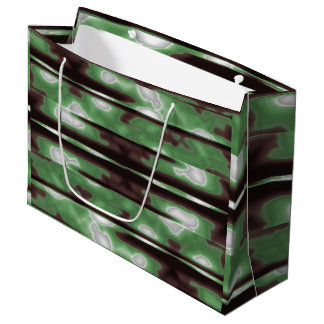 Stripes Camo Pattern Print Large Gift Bag