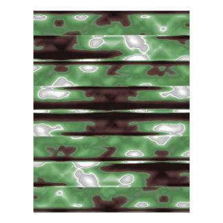Stripes Camo Pattern Print Letterhead