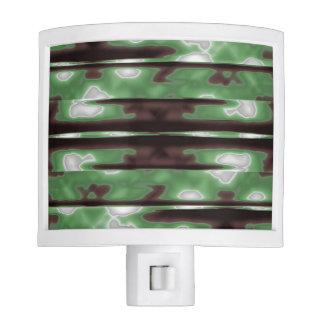 Stripes Camo Pattern Print Night Light