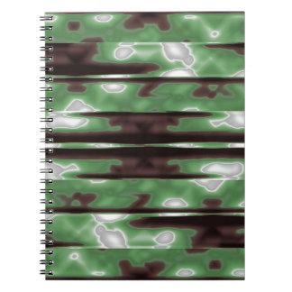 Stripes Camo Pattern Print Notebooks