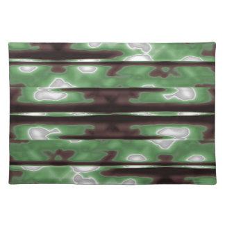 Stripes Camo Pattern Print Placemat