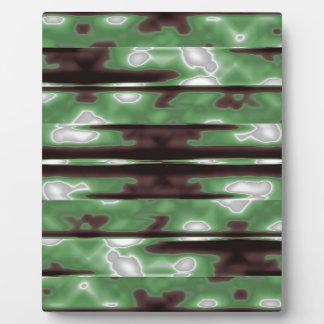 Stripes Camo Pattern Print Plaque