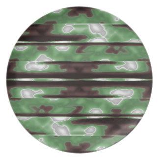 Stripes Camo Pattern Print Plate