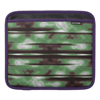 Stripes Camo Pattern Print Sleeves For iPads