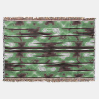 Stripes Camo Pattern Print Throw Blanket