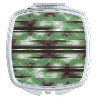 Stripes Camo Pattern Print Vanity Mirror