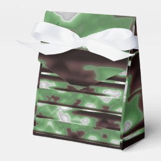 Stripes Camo Pattern Print Wedding Favor Boxes