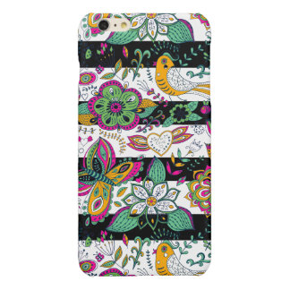 Stripes & Colorful Retro Flowers Pattern G1