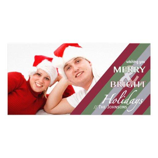 Stripes Customizable Holiday Photo Card