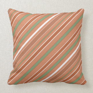 Stripes Diagonal Pattern with any Color Throw Pillow