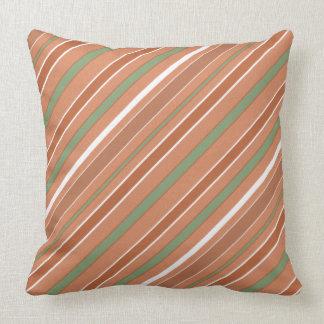 Stripes Diagonal Pattern with any Colour Throw Pillow