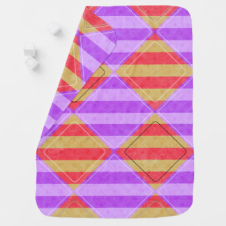 Stripes, Diamonds, Spot Pattern by Shirley Taylor Baby Blanket