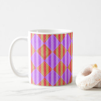 Stripes, Diamonds, Spot Pattern by Shirley Taylor Coffee Mug