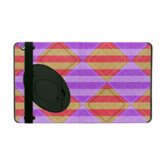 Stripes, Diamonds, Spotted Pattern iPad Cover