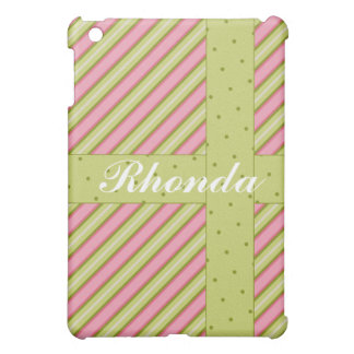 Stripes Dots Pink Lime  Cover For The iPad Mini