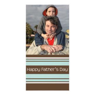 Stripes Father's Day Custom Photo Card