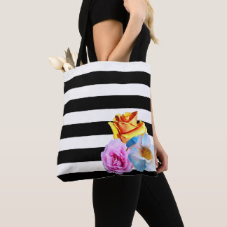 Stripes & Floral Tote