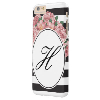 Stripes & Flowers - Initial Phone Case