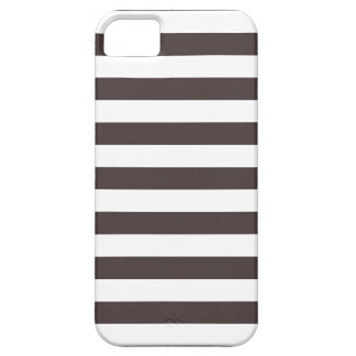 Stripes French Roast Brown iPhone 5 Case