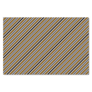 Stripes Horizontal Orange Black White Tissue Paper