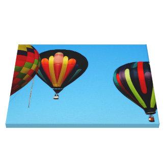 Stripes Hot Air Balloon Canvas Print