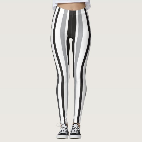 Stripes in Grey Leggings