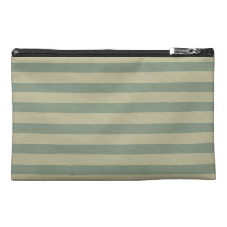 Stripes in Olive Green 04 Travel Accessories Bag
