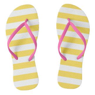 Stripes in Yellow | Sandals Flip Flops