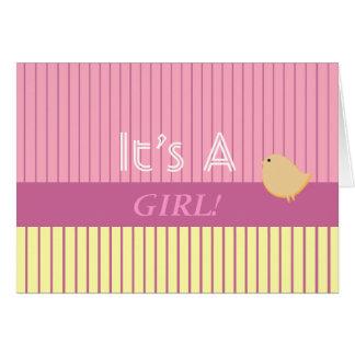 Stripes It's A Girl! Card