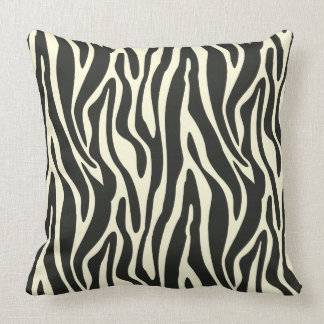 Stripes light yellow with black Pillow