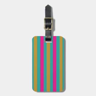 Stripes Luggage Tag