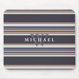 stripes,modern,generic,dark+blue,brown,charcoal,st mouse pad