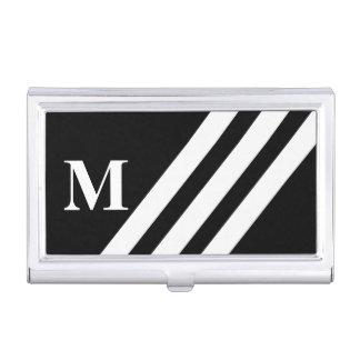Stripes Monogram Business Card Holder